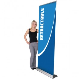 Deluxe Retractable Banner with Stand - Indoor